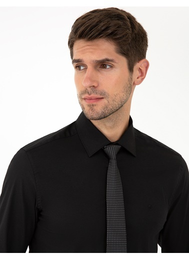 Pierre Cardin G021Gl004.000.1294511.Vr046 Gömlek Uzunk Siyah